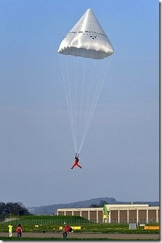 Leonardo da Vinci Parachute werkt!